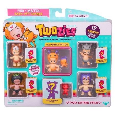 twozies blister x 12 serie 1 6 bebes y 6 mascotas sorpresa