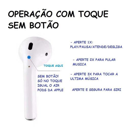 tws i10 fone de ouvido airpod bluetooth ios android original