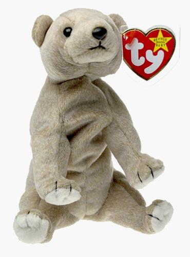 ty beanie babies - almond the bear [toy]