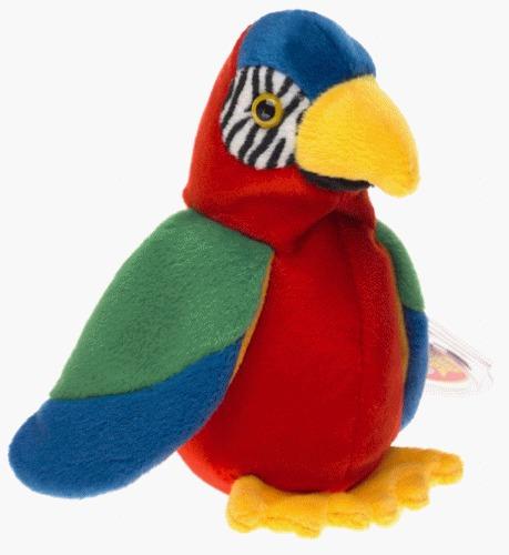 ty beanie babies jabber el parrot