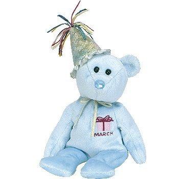 ty beanie babies - marzo del cumpleaños del oso de peluche