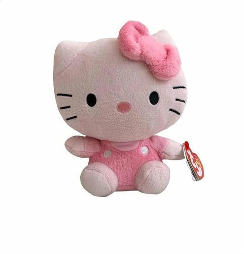 ty beanie babies - pelúcia hello kitty rosa 20 cm - original