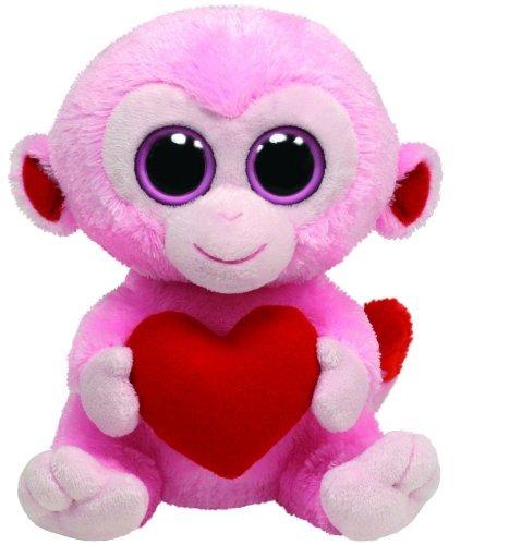 ty beanie boos mono julep rosa con corazón