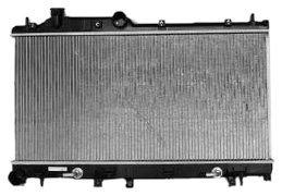 tyc 2778 subaru 1-fila radiador reemplazo plástico aluminio