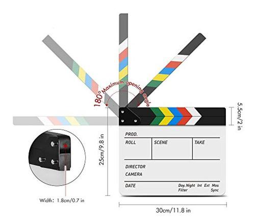 tycka acrylic film clapboard dry erase director