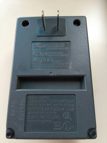 tyco radio control 6.0v nicd cargador de baterias 97433