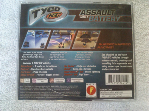 tyco r/c assault with a battery ps1