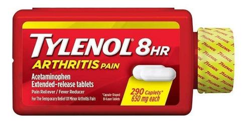 tylenol 8hr arthritis pain acetaminophen 650mg - 290 caplets
