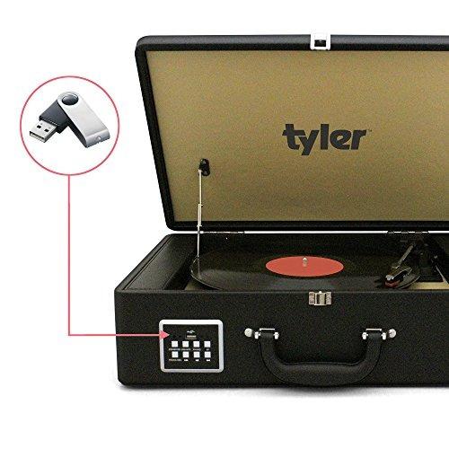 tyler funda bluetooth para reproductor de discos de vinilo c
