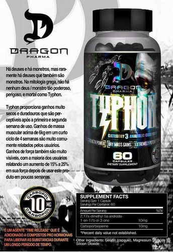 typhon dragon pharma 60 caps - importado 100% original