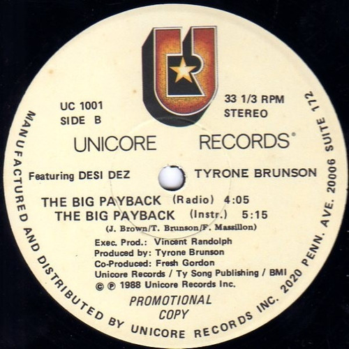 tyrone brunson    12 single   the big payback