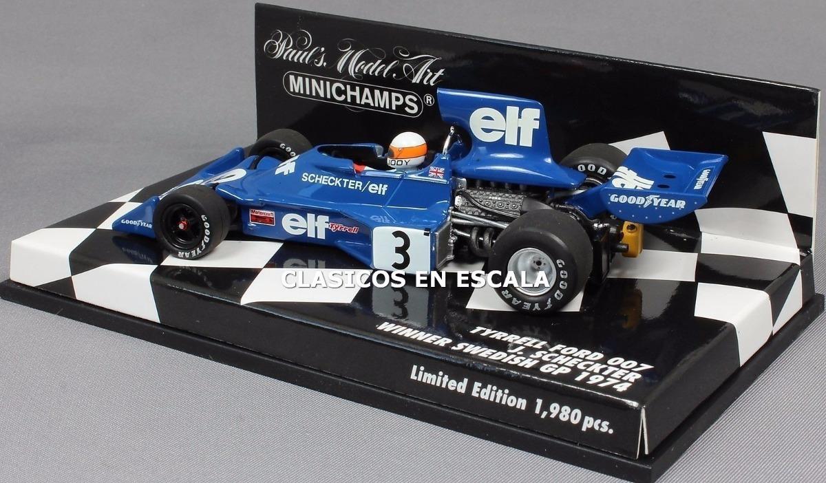 Minichamps Tyrrell Ford 007 Winner Swedish Gp 1974-Jody Scheckter 1//43 Escala
