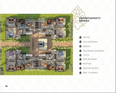 u-tara towers departamentos en pre-venta con amenidades modelo mewah.