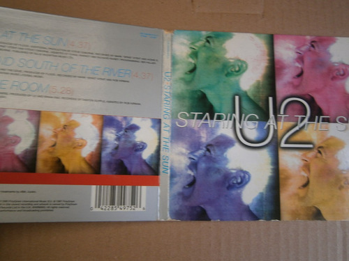 u2 staring at the sung cd importado gran bretaña 1997