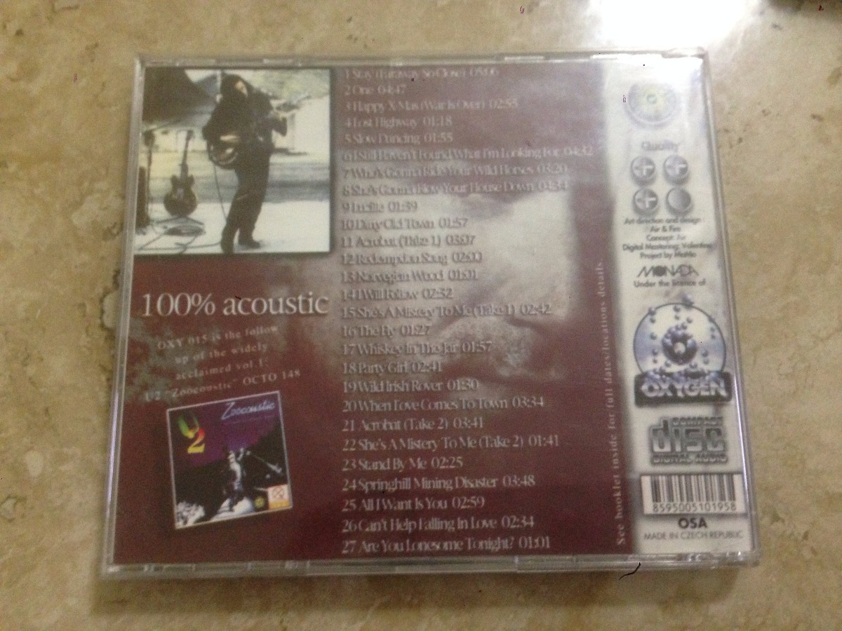 U2 Unwired Jesus Was A Cool Guy 100% Acoustic Vol 2 Raro