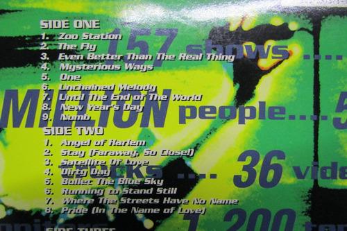 u2 zoo tv  en concierto laser doble disco musical