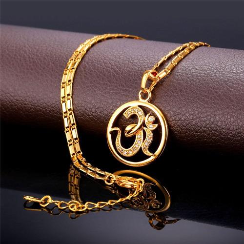 u7 marca aum om pendiente collar de encanto india hinduism j