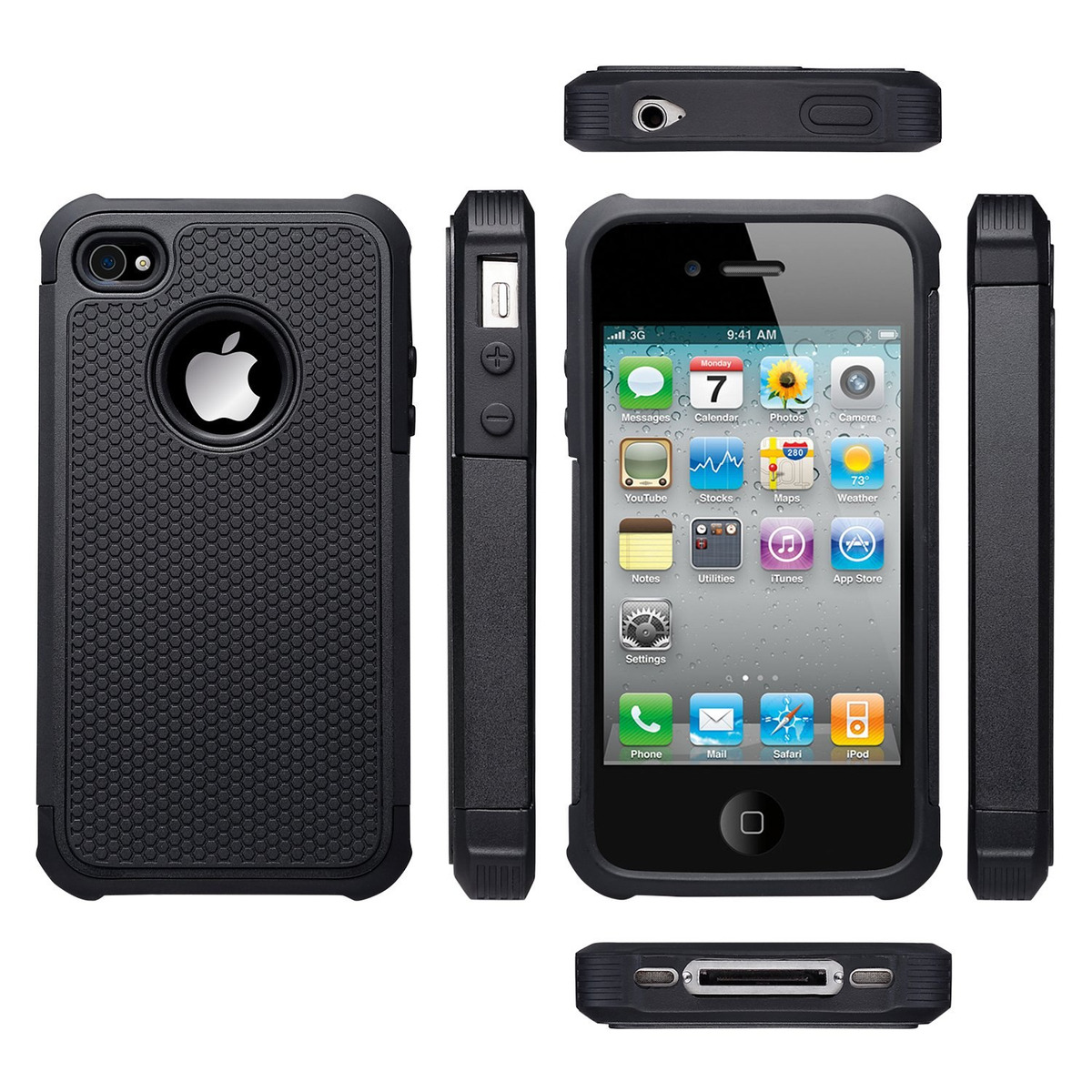 2fb9edfc162 uarmor funda para apple iphone 4 / iphone 4s, hybrid dual la. Cargando zoom.