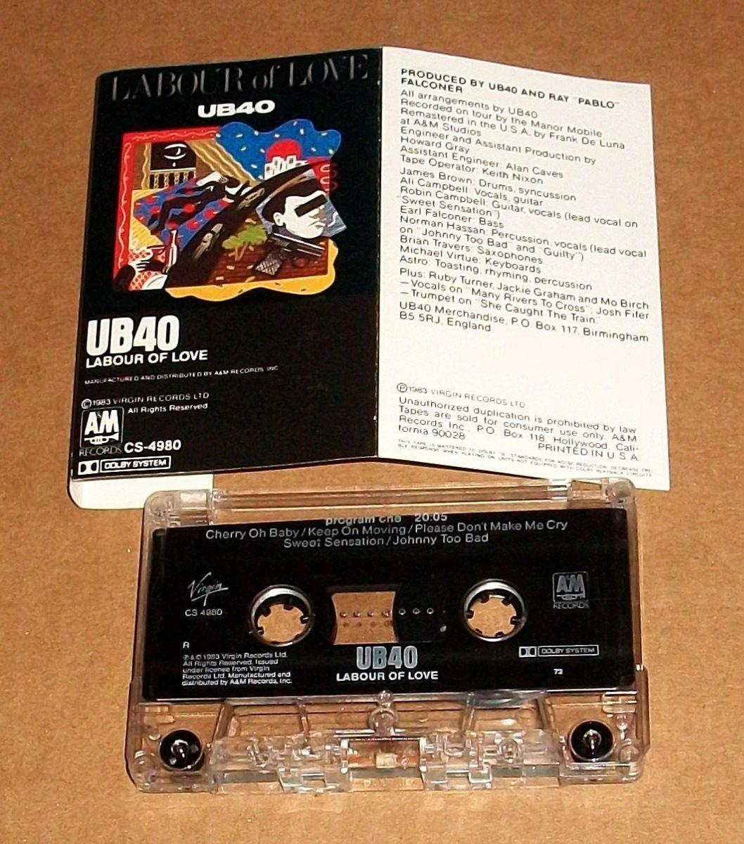 Ub40 Labour Of Love Cassette Reggae Inner Circle Steel Pulse - $ 69 00