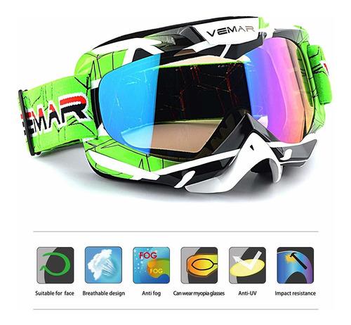 ubelly - gafas de motocross, deportivas, polarizadas, par