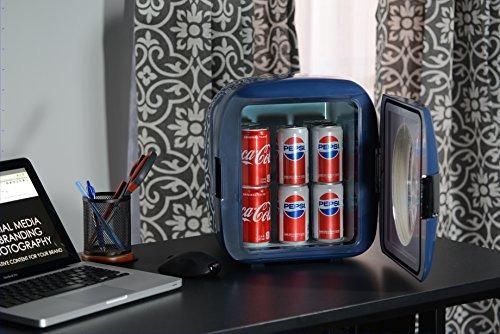 uber appliance ub-xl1-blue mini refrigerador, 9l, azul marin