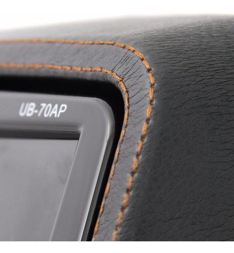 uber monitor 9'' para encosto de cabeça preto com game