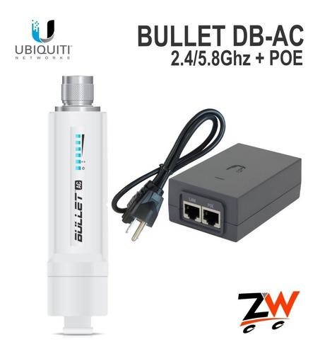 ubiquiti bullet ac airmax 22dbm dual 2.4/5ghz airos8 con poe