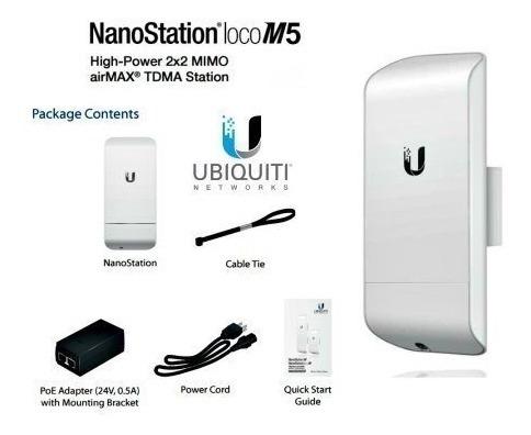 ubiquiti nanostation loco m5 - antena de 13 dbi - nsm5 - poe
