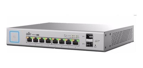 ubiquiti switch poe+ 8 puertos +2 gigabit sfp us-8-150w