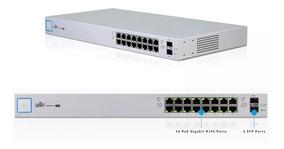 Ubiquiti Switch Us-16-150w-br 16p Poe Rj45 + 2p Sfp Unifi