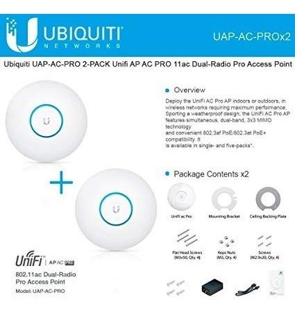 ubiquiti unifi ac pro wifi largo alcance con fuente incluida