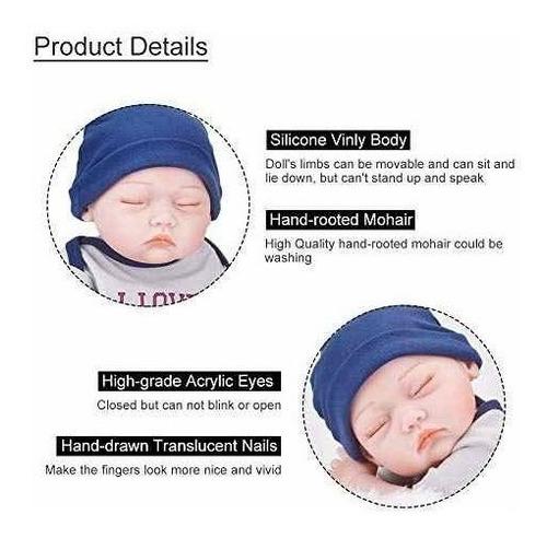ucanaan muñeca realista de silicona para recien nacido, cue