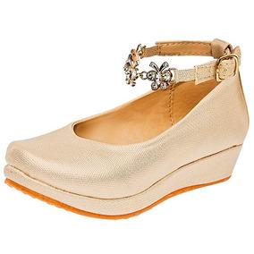25bce1a2 Zapatos Con Poco Tacon Para Niña Ninas - Zapatos para Niñas Dorado ...