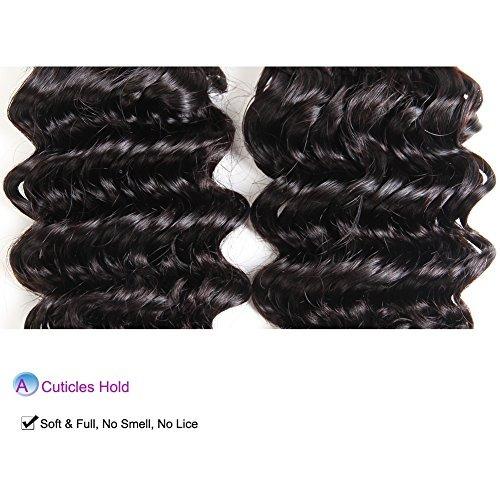 udu hair brazilian deep wave 3 bundles con cierre 7a grado