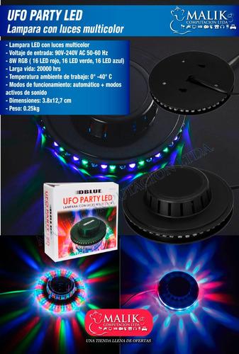 ufo led party light lampara con luces led multicolor_