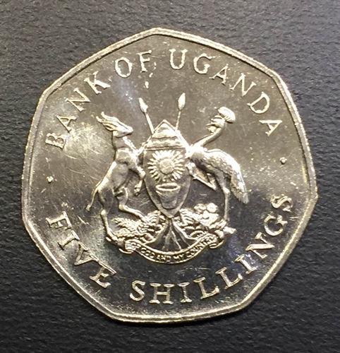 uga005 moneda uganda 5 shillings 1987 unc-bu ayff