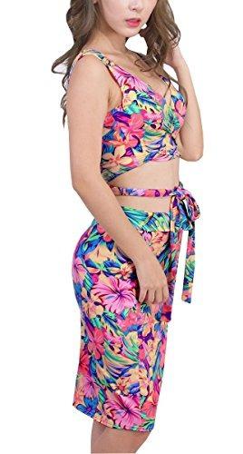 uget parte superior para mujer midi falda outfit bodycon ven