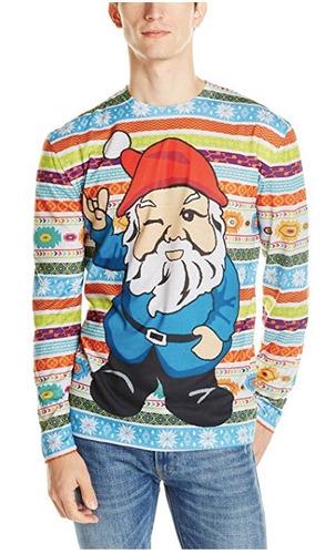 ugly christimas sweater navidad gnomo hombre talla xl