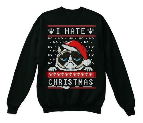 ugly sweater grumpy cat sudadera navideña gato enojon unisex