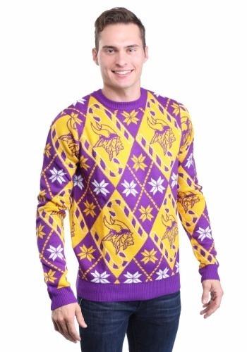 newest c2f45 0a448 Ugly Sweater Navidad Minnesota Vikings Nfl Para Adultos