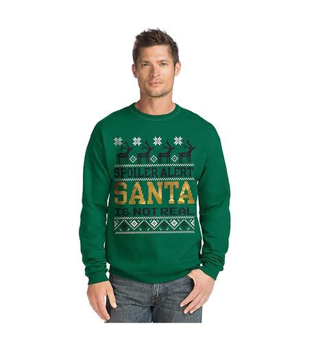 ugly sweater navidad xmas sudadera hanes santa not xl