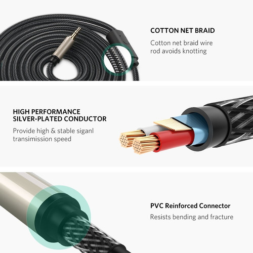 ugreen 3.5mm 1/8  trs a dual 6.35mm 1/4  ts cable divisor