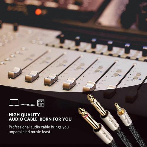 ugreen 3.5mm 1/8  trs to dual 6.35mm 1/4  ts mono stereo y-c