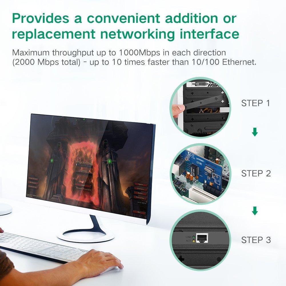 Ugreen Gigabit Ethernet Pci Express Pci-e Controlador De Red ...