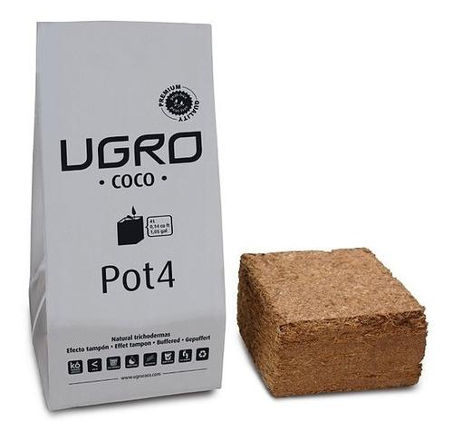 ugro pot4 - 4l fibra de coco con maceta plastica