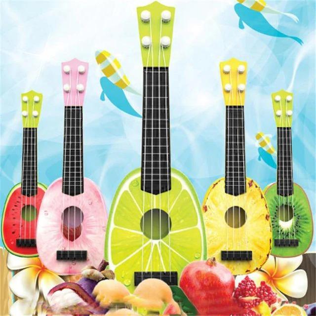 Niños Guitarra Frutas Juguete De Ukelele Para MpSzqUV