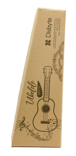 ukelele de madera soprano con funda manual y lecciones