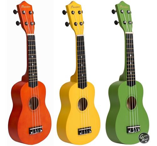ukelele electroacustico soprano color + funda acolchada pua