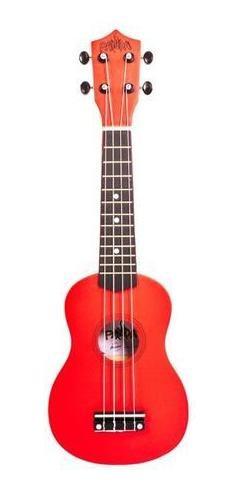 ukelele soprano bamboo rojo panda con funda pua regalo