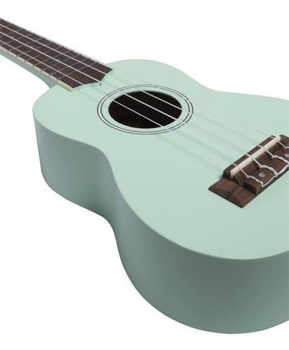 ukelele soprano bamboo verde agua - madera tilo - con funda